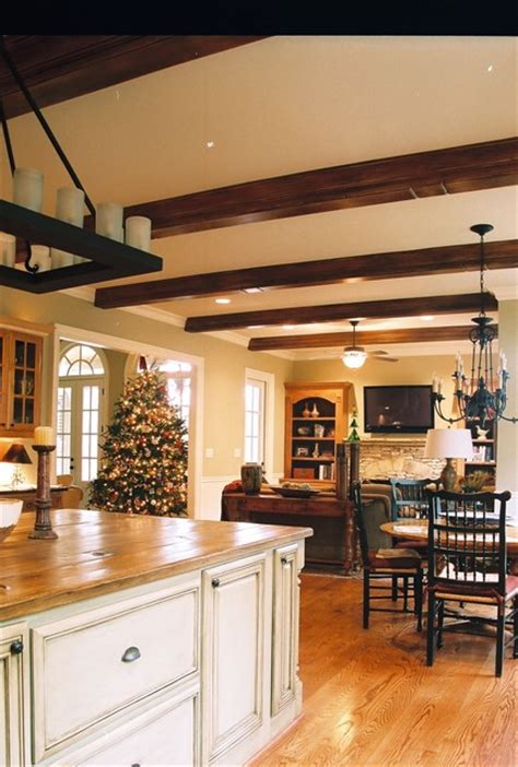Kitchen Islands Atlanta | kitchen island and beams rustic kitchen atlanta by