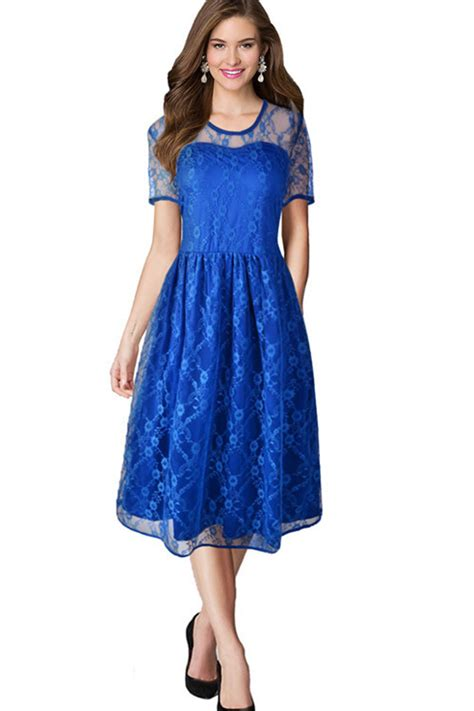 Lace Halter Style Dress 21902 kettymore halter style skirt lace dress blue kettymore