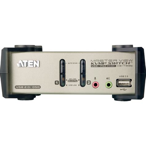 Switch Aten aten 2 port usb 2 0 kvmp switch with osd cs1732b b h photo