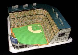 How To Make A Paper Football Stadium - papermau wrigley field baseball stadium paper model by
