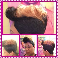 platinum blonde 27 piece weave pictures 27 piece quick weave short cut with highlighted bang