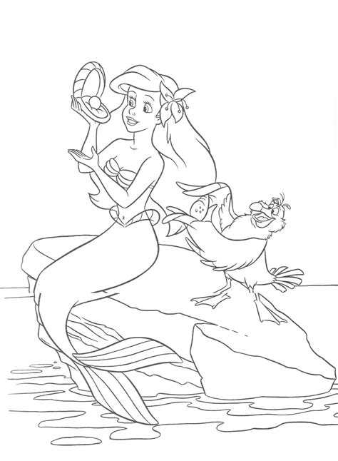 little mermaid coloring printable coloring pages