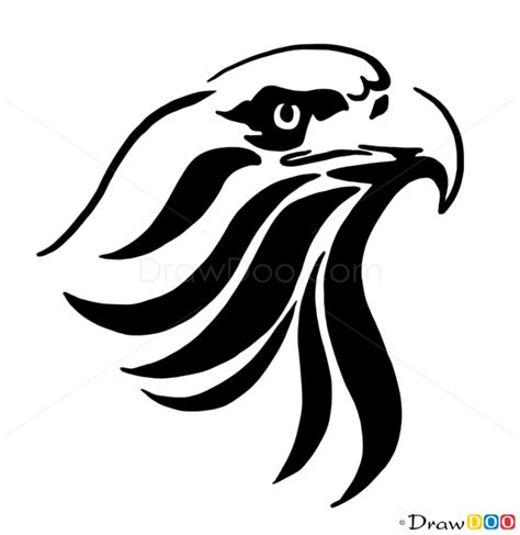 Tattoo Pictures To Draw | how to draw eagle tribal tattoos