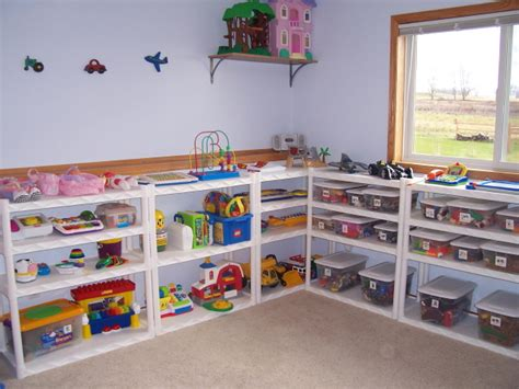playroom shelving ideas playroom storage shelves images