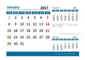 Calendar 2018 With Holidays Excel 2017 Excel Calendar With Holidays Free Printable Templates