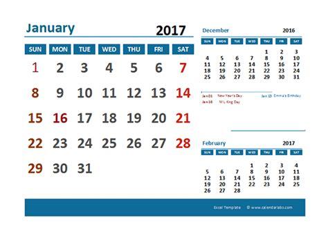 Calendar 2017 Excel With Holidays India 2017 Excel Calendar With Holidays Free Printable Templates