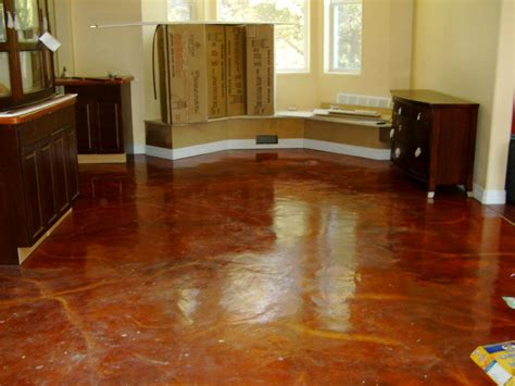 kitchen floor stained concrete high gloss epoxy as you