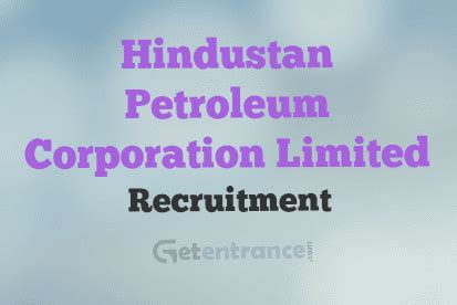 Hindustan Petroleum Corporation Limited Recruitment 2015 For Mba by Hpcl Recruitment 2016 Hpcl 2016 17 Getentrance