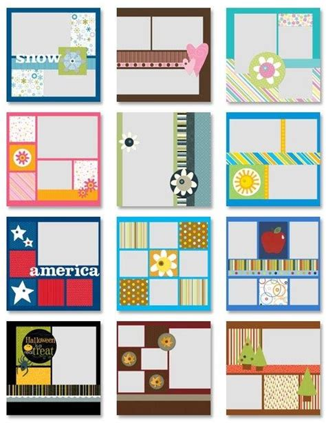 layout for scrapbook simple scrapbooking ideas scrapbook sketches pinterest
