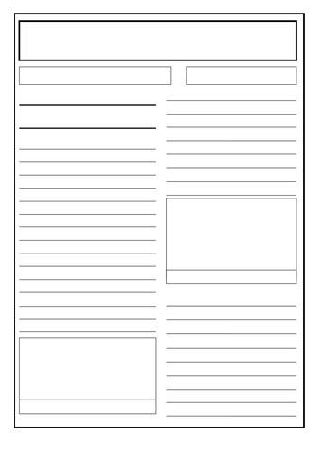writing a report template ks2 great of newspaper report writing by