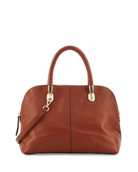 Cole Haan Dome Satchel Bag by Lyst Cole Haan Benson Large Leather Dome Satchel Bag In