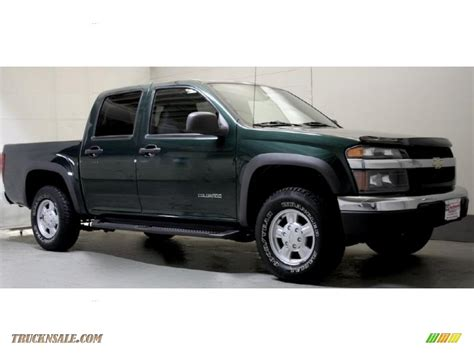 chevy colorado green 2004 chevrolet colorado ls crew cab 4x4 in dark green