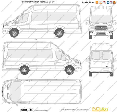 Online Blueprints by The Blueprints Com Vector Drawing Ford Transit Van