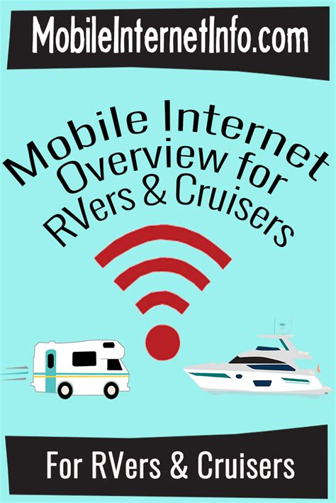 overview of mobile options for rvers cruisers
