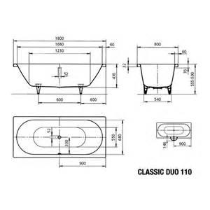 badewanne stahl 180x80 kaldewei badewanne ambiente classic duo 110 180x80 cm