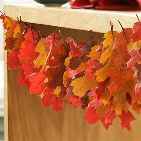 fall leaves garland decorations bhg centsational style