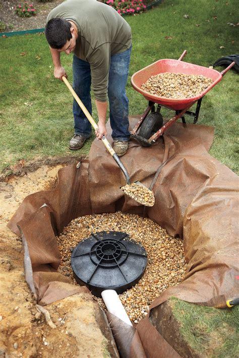 install  dry  dry  backyard drainage