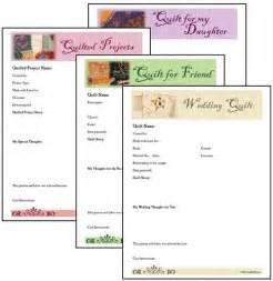 Quilt Journal Template by Scrapsmart Quilt Journal