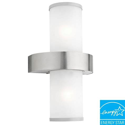 eglo beverly 2 light silver outdoor wall mount l 20645a