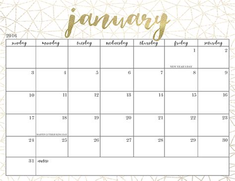 printable calendar 2016 oh so lovely how to get over the january blues redbrick