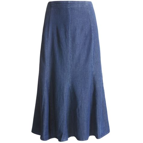 orvis godet skirt tencel 174 cotton denim for