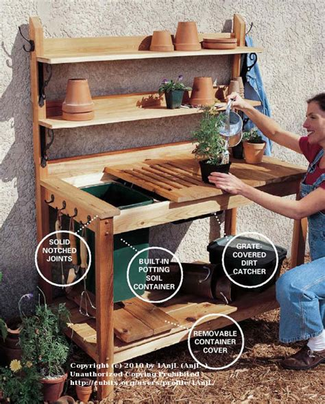 diy potting bench with sink all things hobby cubit woodworking forum potting bench