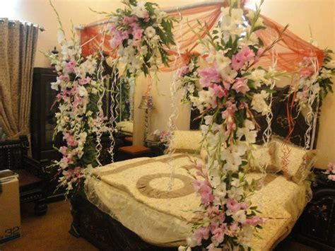 Classic bedroom decoration for wedding night   Wedding