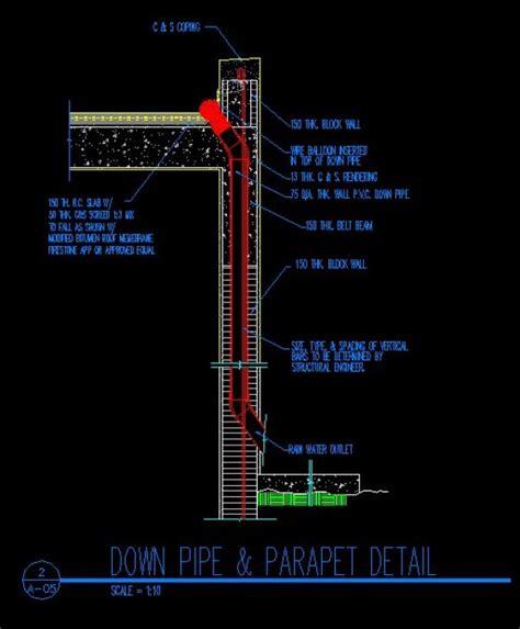 exit layout view autocad ridge eave parapet details cad library autocad