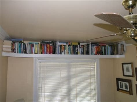 ceiling bookshelf idea beautify the home