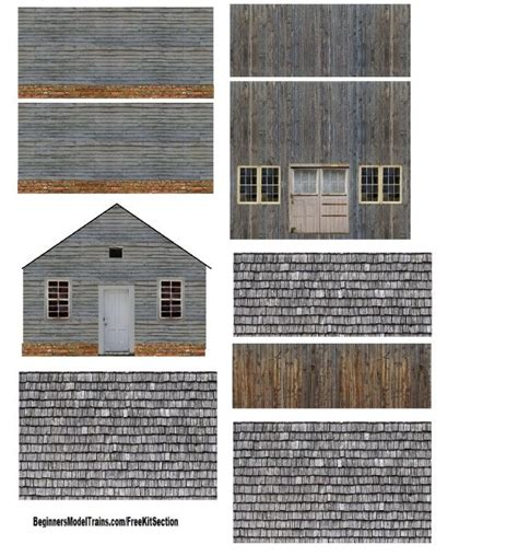 printable paper buildings sscale shed 7 b model railroad towns buildings