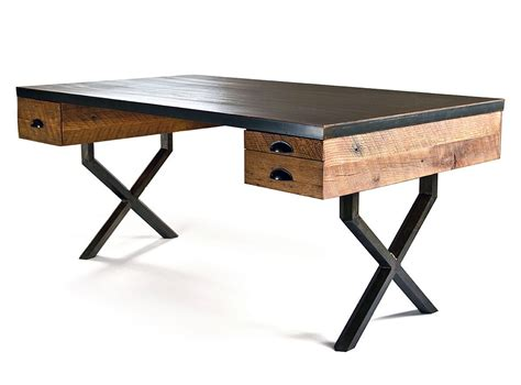 wood and iron desk 33 stunning reclaimed wood desks