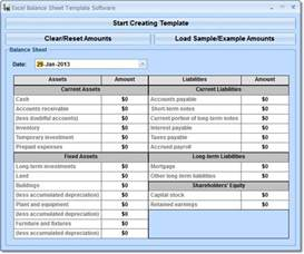 Free Balance Sheet Template Excel by Excel Balance Sheet Template Software Free