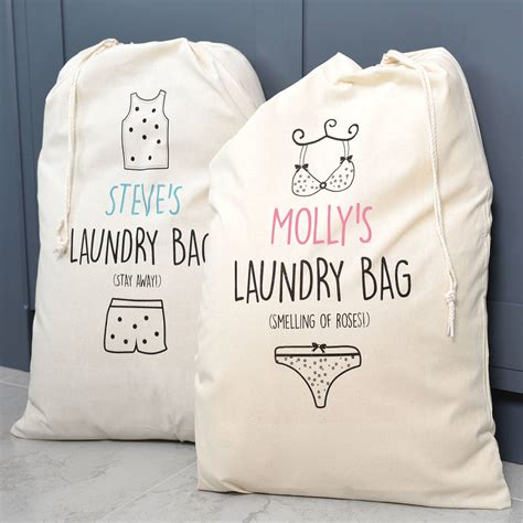 Black Laundry Hers His Hers Laundry Bags Black Co Uk Designer Laundry Hers