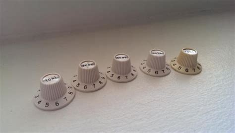 White Witch Hat Knobs by Fender Jazzmaster White Witch Hat Tone Knobs Reverb