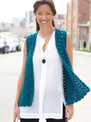 free pattern vest crochet drapey crochet vest yarn free knitting patterns