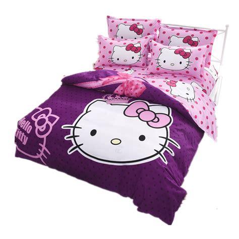 kitty bed hello kitty bedding set children bed linen cartoon duvet