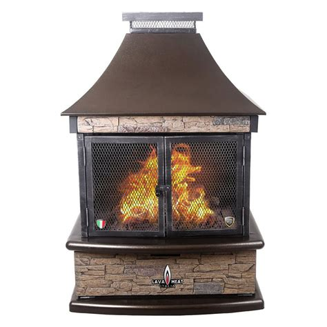 Lowes Outdoor Fireplace by Shop Lava Heat Italia 30 000 Btu Heritage Bronze Steel