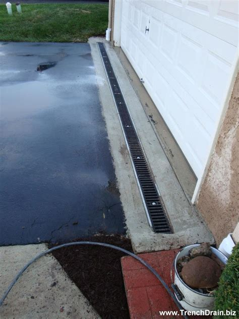 trench drain installation for the residential driveway