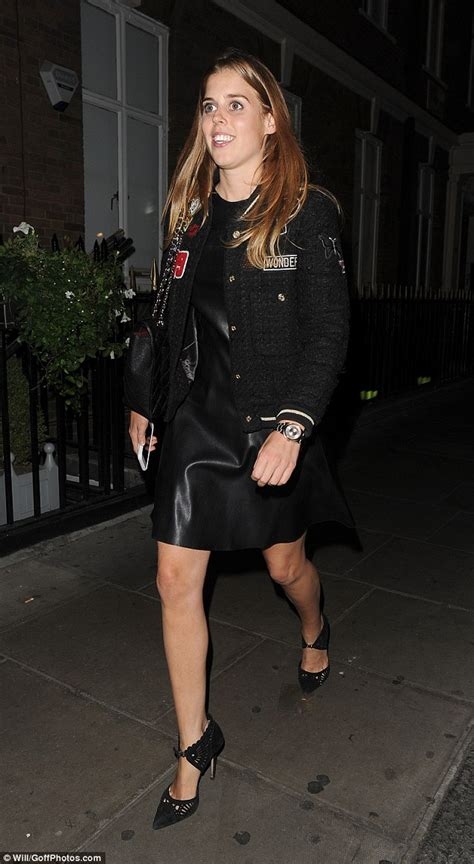 Princess Beatrice Rocks The Bans by Princess Beatrice Rocks Racy Leather Dress For Third