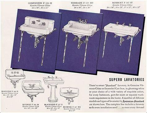 1947 bathroom sinks p 1 1940s house