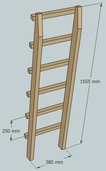 bunk bed ladder plans how to build a budget loft bed free plans part 4 bed