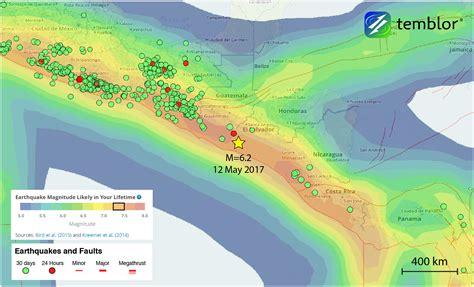 earthquake radar m 6 2 subduction zone earthquake strikes el salvador