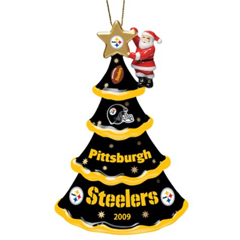 steelers christmas pics 2009 annual pittsburgh steelers ornament the danbury mint