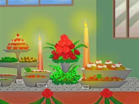 how to decorate a buffet table how to decorate a buffet table with pictures wikihow