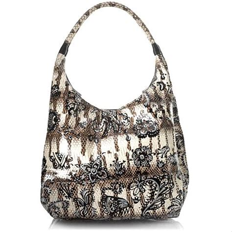 Carlos Falchi Medium Boat Hobo by Carlos Falchi Henna Pattern Grande Boat Hobo Handbag