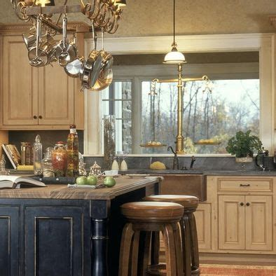 Distressed Kitchen Cabinets Pictures Cream Cabinets Black Distressed Island Home Pinterest