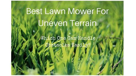 lawn mower  uneven ground youtube