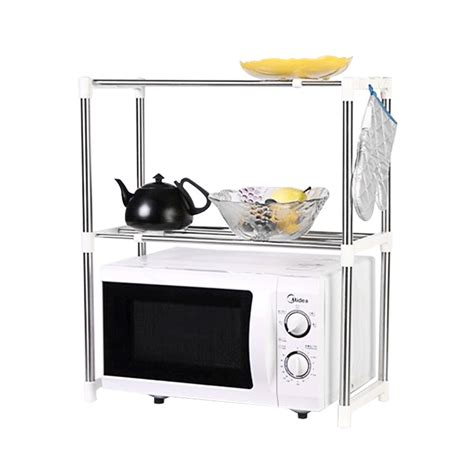 Kabinet Dapur Stainless Steel jual home klik microwave oven stainless steel shelf