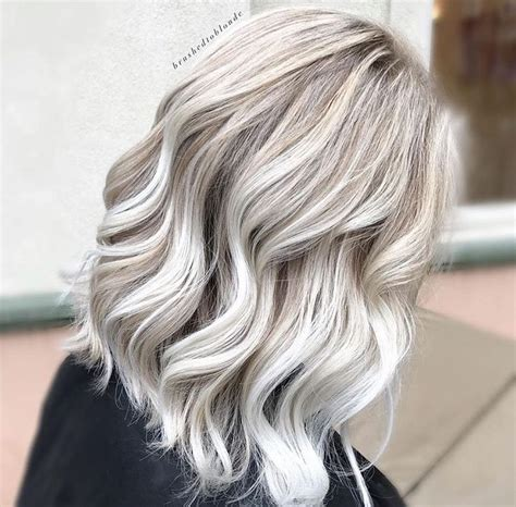 age for icy blonde hair icy blonde hair balayage