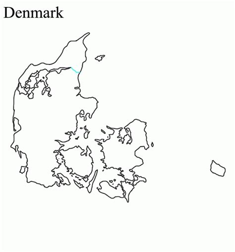 denmark map coloring page printable map of denmark coloring home